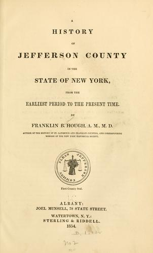 Download A history of Jefferson county in the state of New York, from the earliest period to the present time