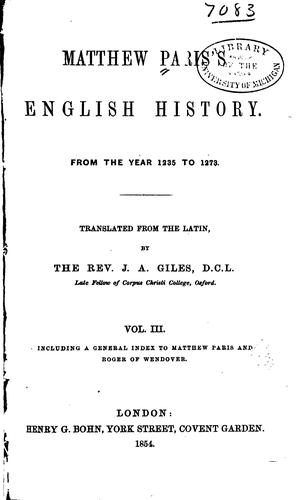 Download Matthew Paris's English history.