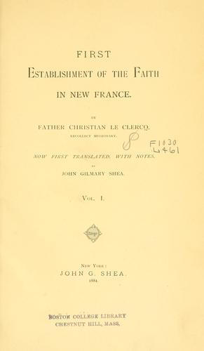 Download First establishment of the faith in New France
