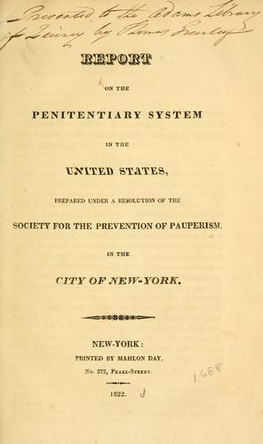 Download Report on the penitentiary system in the United States