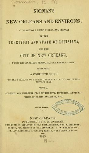 Download Norman's New Orleans and environs