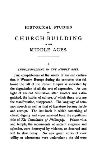 Download Historical studies of church-building in the middle ages.