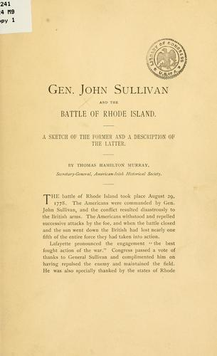 Gen. John Sullivan and the battle of Rhode Island