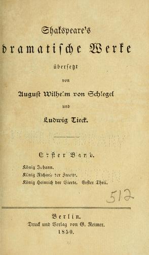 Download Shakespeare's dramatische werke