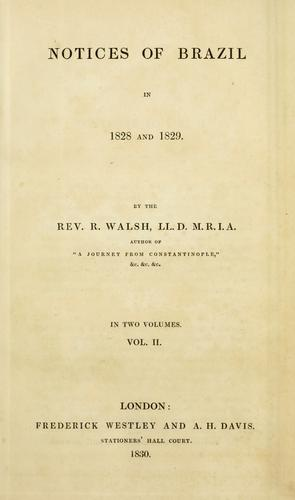 Download Notices of Brazil in 1828 and 1829.