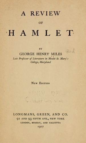Download A review of Hamlet