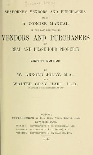 Seaborne's Vendors and purchasers
