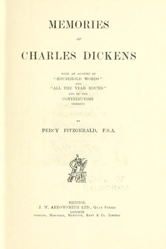 Memories of Charles Dickens