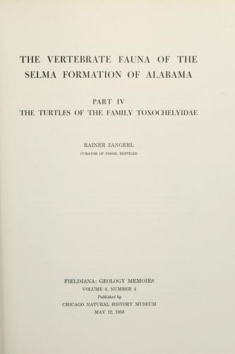 Download The vertebrate fauna of the Selma Formation of Alabama.