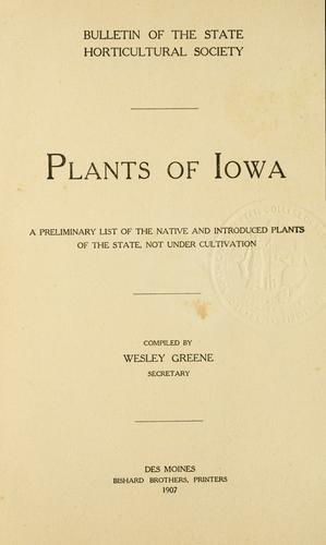 Plants of Iowa