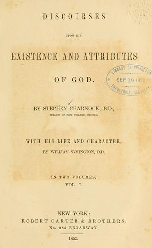 Download Discourses upon the existence and attributes of God