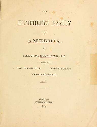 The Humphreys family in America