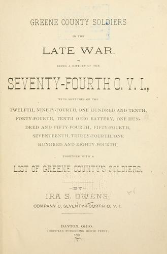 Download Greene County soldiers in the late war