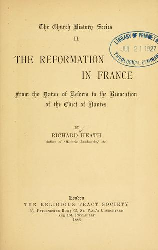Download The reformation in France