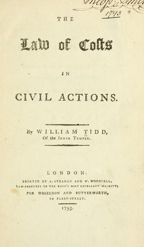 Download The law of costs in civil actions.