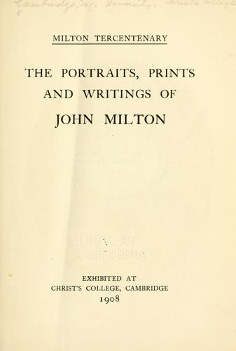 Milton tercentenary.