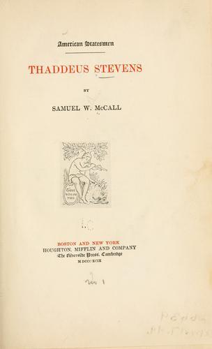 Download Thaddeus Stevens