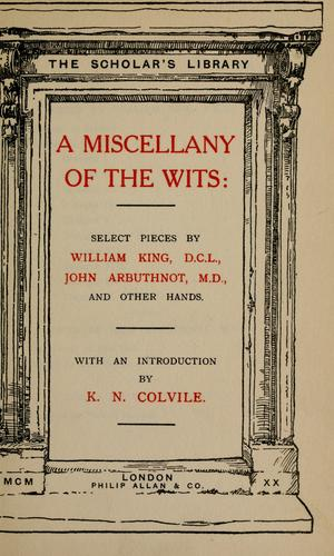 Download A miscellany of the wits