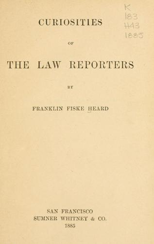 Download Curiosities of the law reporters