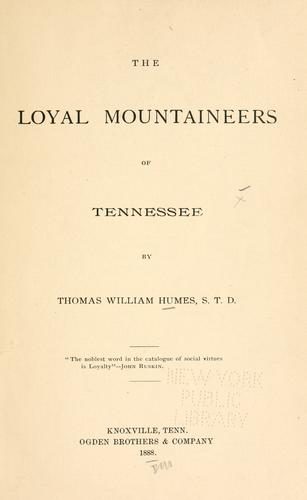 Download The loyal mountaineers of Tennessee