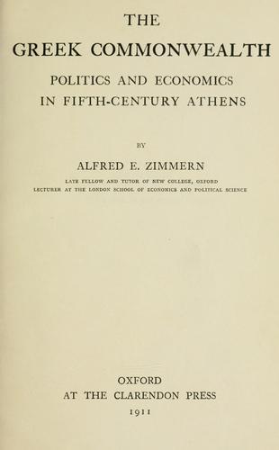 The Greek commonwealth