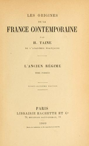Download Les origines de la France contemporaine.