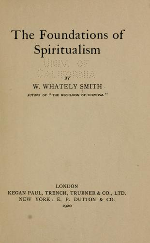 Download The foundations of spiritualism