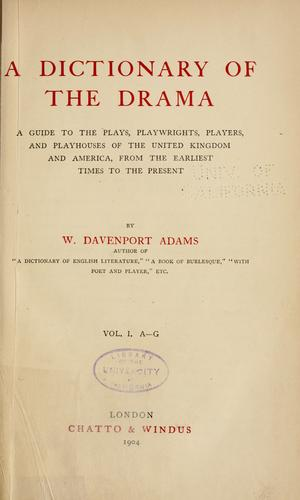 Download A dictionary of the drama