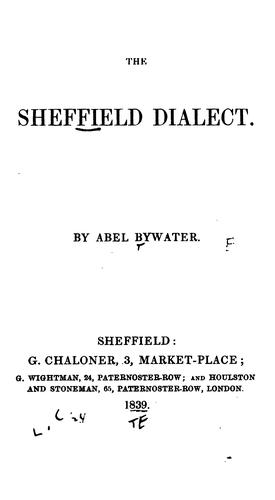 The Sheffield dialect.