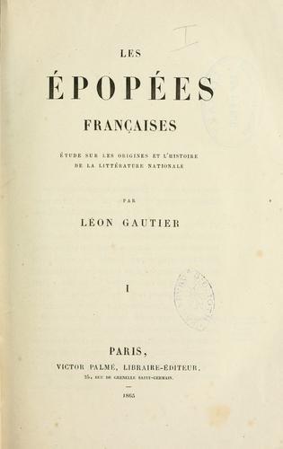 Les épopées françaises.