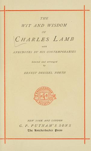 The wit and wisdom of Charles Lamb