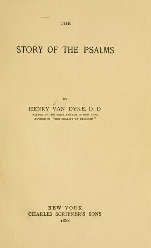 The story of the Psalms …