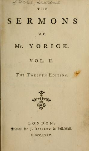 The sermons of Mr. Yorick.