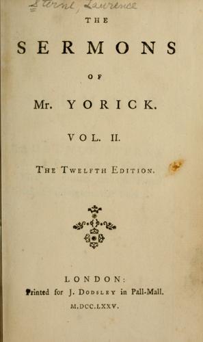 The sermons of Mr. Yorick.