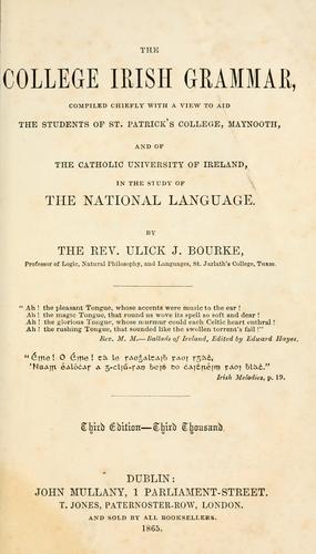 The College Irish grammar