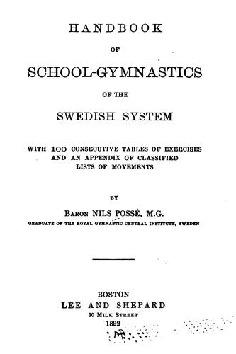Handbook of school-gymnastics of the Swedish system