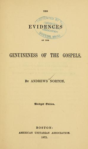 Download The evidences of the genuineness of the Gospels…