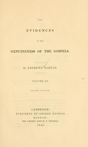 The evidences of the genuineness of the Gospels.