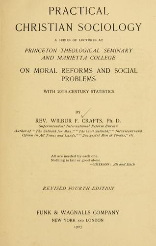 Practical Christian sociology