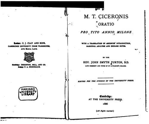 Oratio pro Tito Annio Milone