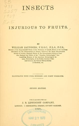Insects injurious to fruits.