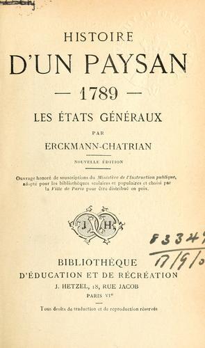 Download Histoire d'un paysan.
