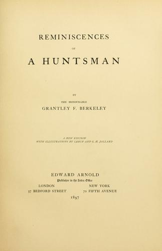 Download Reminiscences of a huntsman
