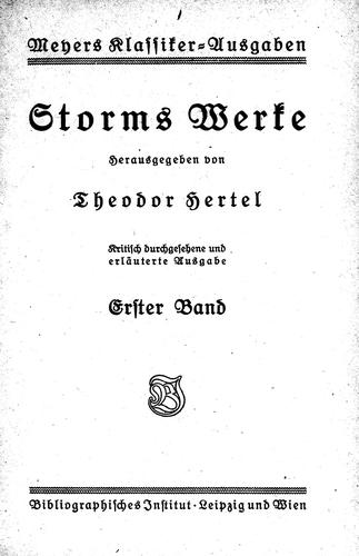 Download Storms Werke