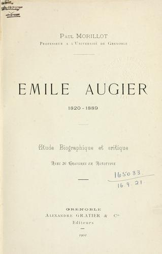Émile Augier, 1820-1889