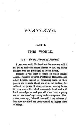 Download Flatland: A Romance of Many Dimensions