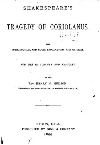 Download Shakespeare's Tragedy of Coriolanus