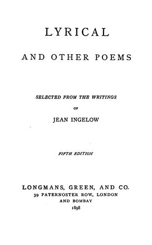 Lyrical and Other Poems