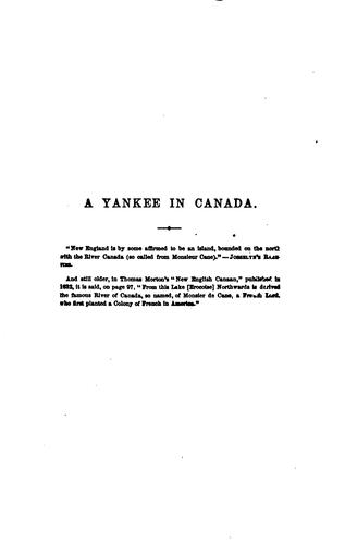 Download A Yankee in Canada, with Anti-Slavery and Reform Papers