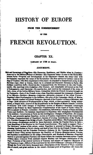 History of Europe from the commencement of the French revolution … to the …